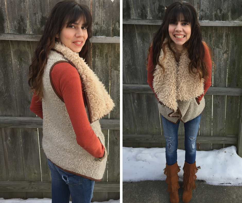 Mama Style Sherpa Vest Layers With Ruthie Grace Boutique