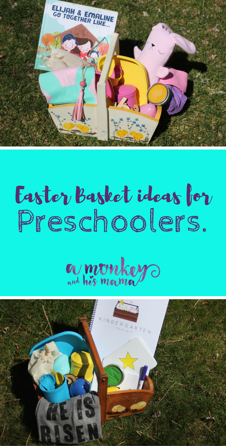 Easter basket ideas for preschoolers a monkey and his mama negle Images